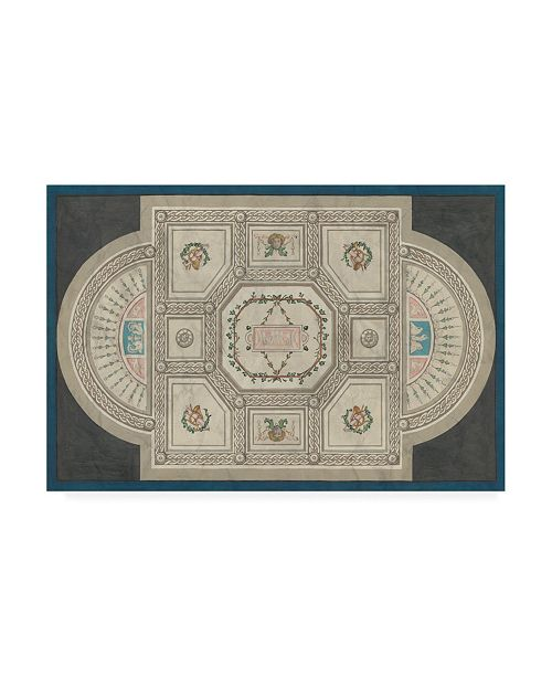 "Trademark Global June Erica Vess Parisian Ceiling Design Canvas Art - 36.5"" x 48"""