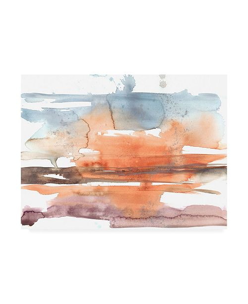 "Trademark Global Jennifer Goldberger Sunset Horizon II Canvas Art - 19.5"" x 26"""