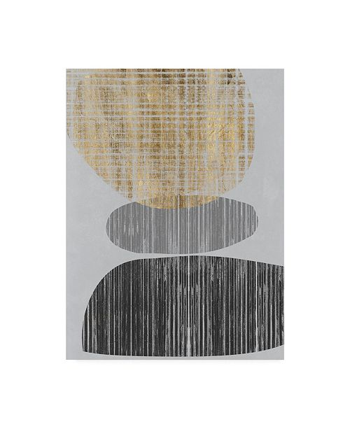 "Trademark Global Jennifer Goldberger Gilded Shapes I Canvas Art - 19.5"" x 26"""