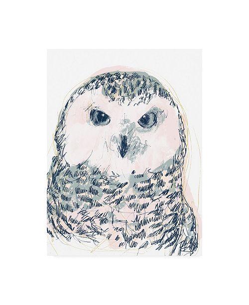 "Trademark Global June Erica Vess Funky Owl Portrait IV Canvas Art - 36.5"" x 48"""