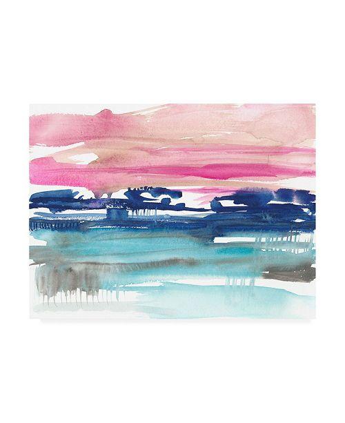 "Trademark Global Jennifer Goldberger Indigo Sunset II Canvas Art - 19.5"" x 26"""