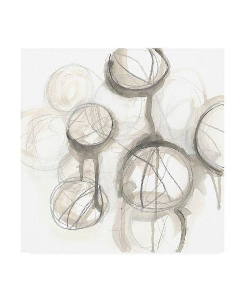 "Trademark Global June Erica Vess Neutral Lanterns III Canvas Art - 36.5"" x 48"""