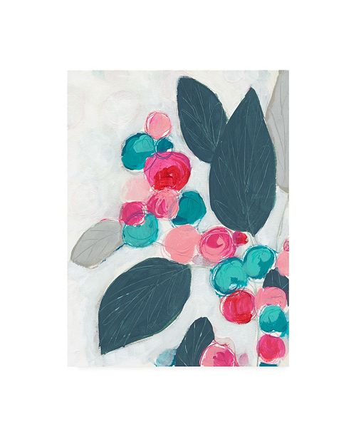 "Trademark Global June Erica Vess Berry Rhapsody I Canvas Art - 36.5"" x 48"""