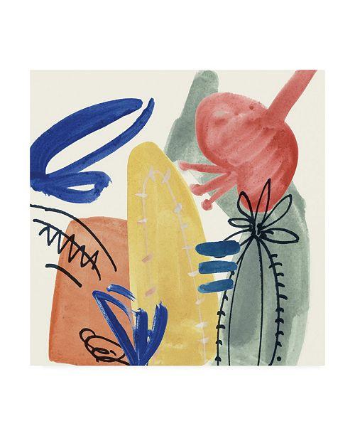"Trademark Global Melissa Wang Sunburst Abstract I Canvas Art - 36.5"" x 48"""