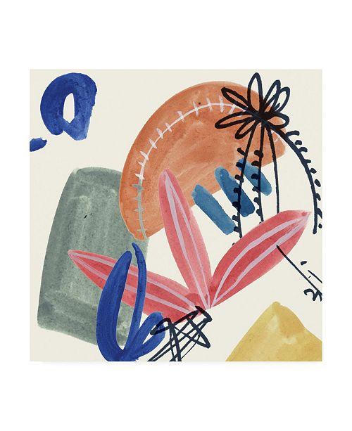 "Trademark Global Melissa Wang Sunburst Abstract IV Canvas Art - 15.5"" x 21"""