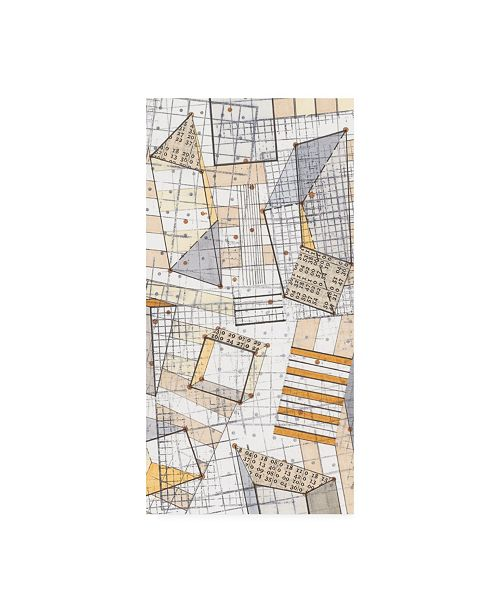 "Trademark Global Nikki Galapon Funky Grid IV Canvas Art - 36.5"" x 48"""