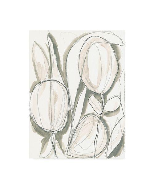 "Trademark Global June Erica Vess Neutral Tropical I Canvas Art - 36.5"" x 48"""