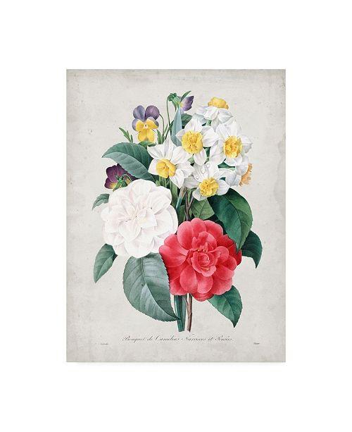 "Trademark Global Pierre Redoute Redoute Bouquet III Canvas Art - 36.5"" x 48"""