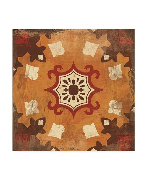 "Trademark Global Cleonique Hilsaca Moroccan Tiles Spice III Canvas Art - 20"" x 25"""