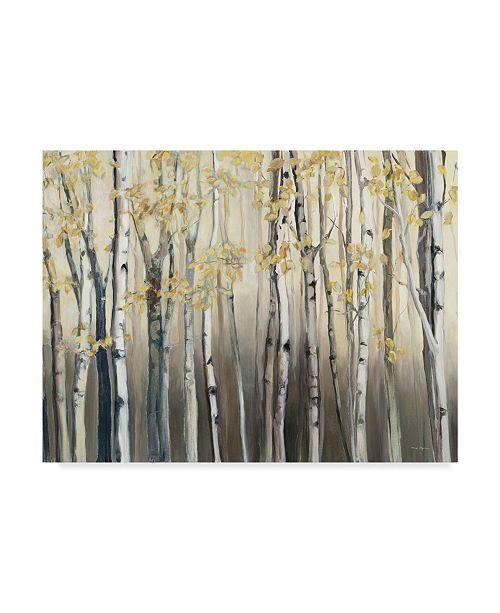 "Trademark Global Marilyn Hageman Golden Birch III Canvas Art - 37"" x 49"""