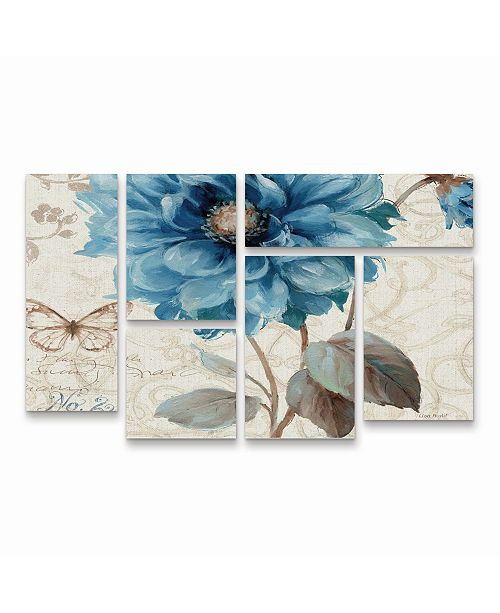"Trademark Global Lisa Audit A Blue Note II Multi Panel Art Set 6 Piece - 49"" x 19"""