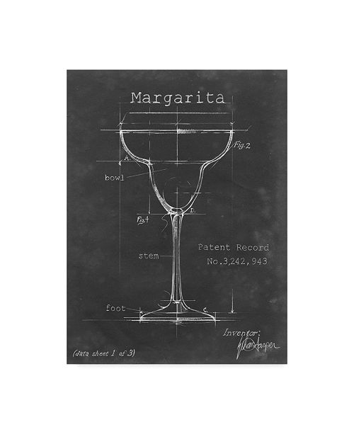 "Trademark Global Ethan Harper Barware Blueprint VI Canvas Art - 15"" x 20"""