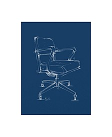 "Ethan Harper Office Chair Blueprint I Canvas Art - 15"" x 20"""
