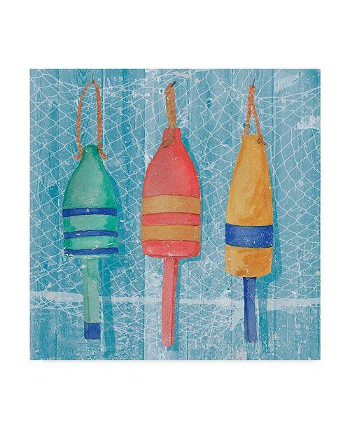"Trademark Global Leslie Mark Lobster Buoys II Canvas Art - 20"" x 25"""