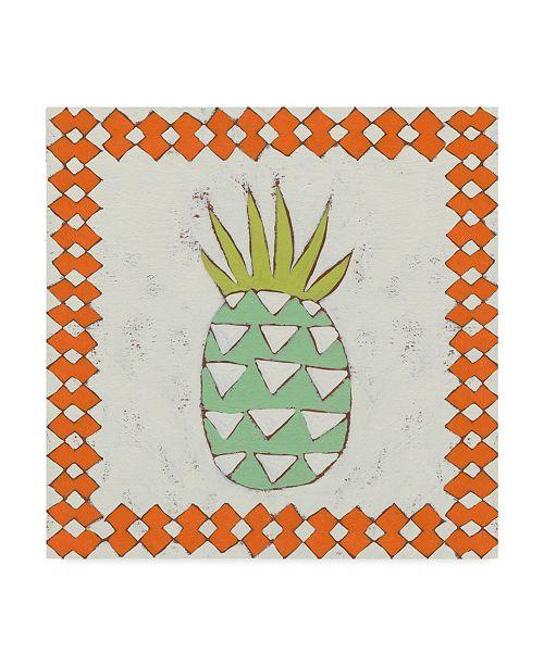 "Trademark Global Chariklia Zarris Pineapple Vacation I Canvas Art - 15"" x 20"""