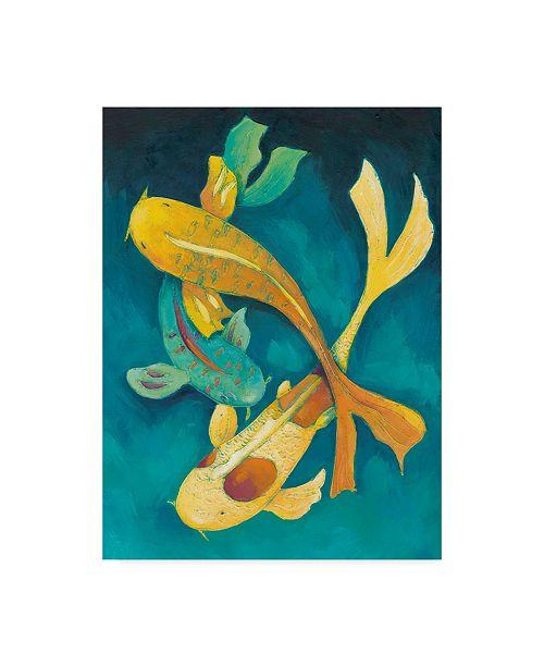 "Trademark Global Chariklia Zarris Ornamental Koi I Canvas Art - 20"" x 25"""