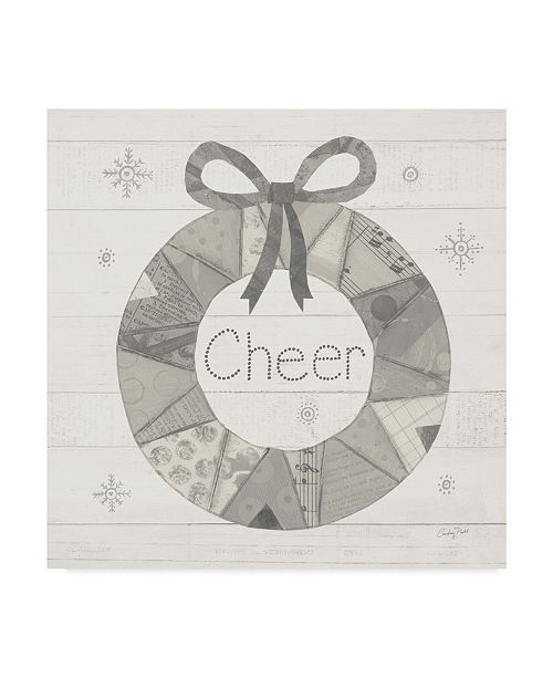"Trademark Global Courtney Prahl Christmas Patchwork III Neutral Canvas Art - 20"" x 25"""