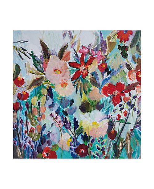 "Trademark Global Joan E. Davis Bright Magic Garden Canvas Art - 20"" x 25"""
