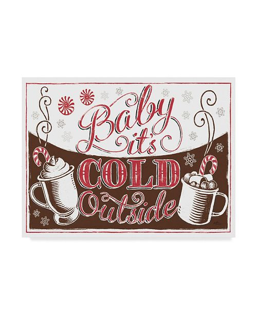 "Trademark Global Janelle Penner Merry Little Christmas I Brown Canvas Art - 15"" x 20"""