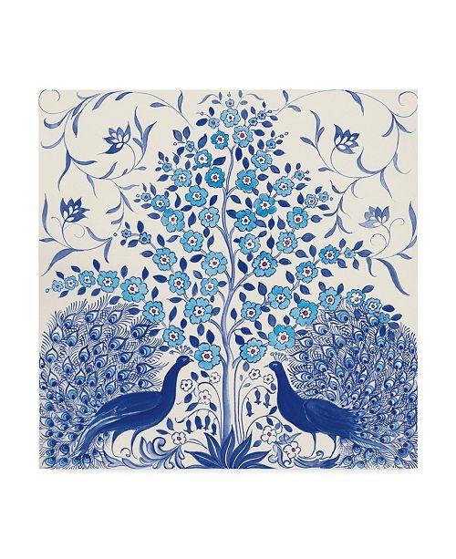 """Trademark Global Miranda Thomas Peacock Garden VIII Canvas Art - 15"""" x 20"""""""