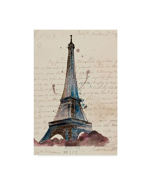 "Trademark Global Melissa Wang Letters from Eiffel Canvas Art - 15"" x 20"""