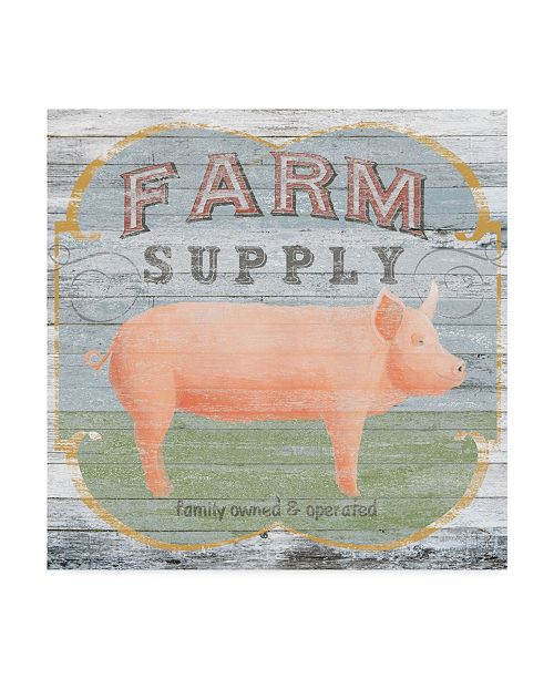 "Trademark Global June Erica Vess Farm Supply II Canvas Art - 20"" x 25"""