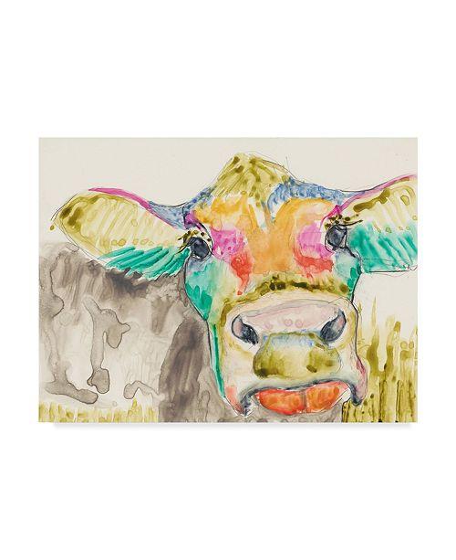 "Trademark Global Jennifer Goldberger Hifi Cow II Canvas Art - 15"" x 20"""