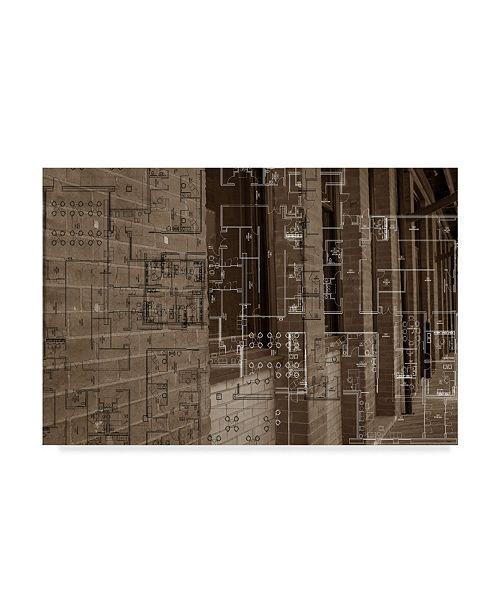 "Trademark Global Sisa Jasper Architecture Drawing III Canvas Art - 15"" x 20"""