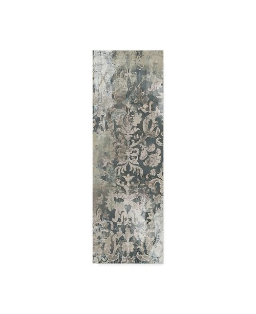 "Trademark Global June Erica Vess Weathered Damask Panel I Canvas Art - 20"" x 25"""