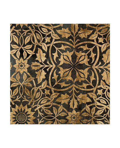 """Trademark Global Jennifer Goldberger Golden Damask I Canvas Art - 15"""" x 20"""""""