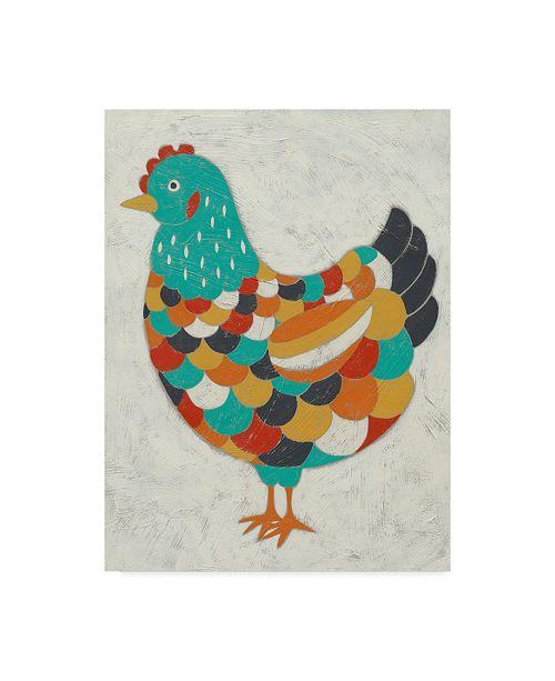"Trademark Global Chariklia Zarris Country Chickens II Canvas Art - 15"" x 20"""