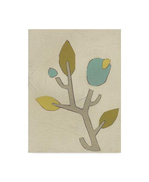 "Trademark Global June Erica Vess Simple Stems IV Canvas Art - 37"" x 49"""