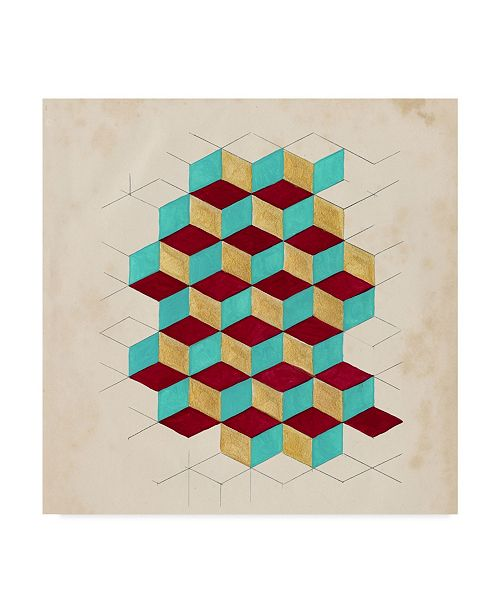 "Trademark Global Naomi Mccavitt Geometric Pattern Play II Canvas Art - 15"" x 20"""