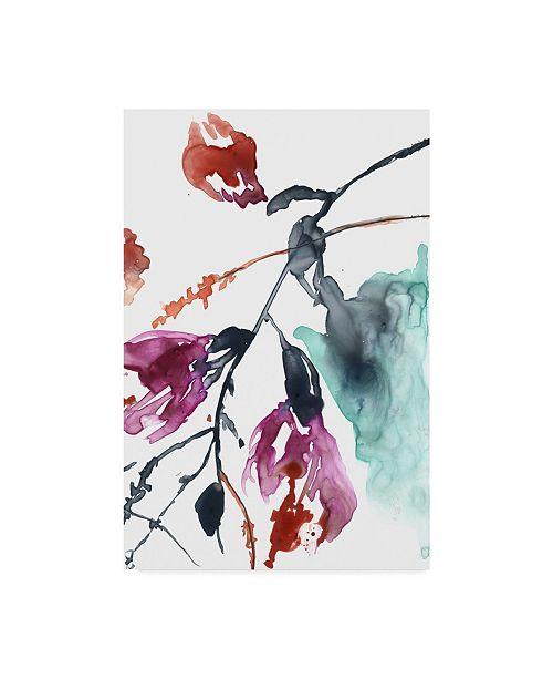 "Trademark Global Jennifer Goldberger Hanging Fuchsia II Canvas Art - 15"" x 20"""