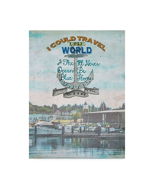 "Trademark Global Sandy Lloyd Anchored Harbor Canvas Art - 15"" x 20"""
