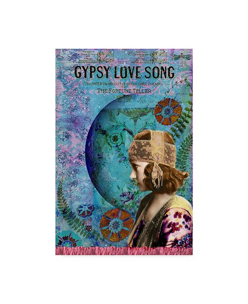 "Trademark Global Sandy Lloyd Moon Dance Gypsy Canvas Art - 15"" x 20"""