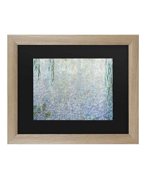 """Trademark Global Claude Monet Waterlillies Morning II Matted Framed Art - 27"""" x 33"""""""