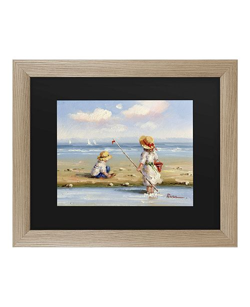 "Trademark Global Masters Fine Art at the Beach III Matted Framed Art - 27"" x 33"""
