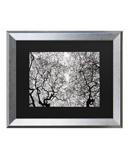 "Trademark Global Kurt Shaffer Japanese Maple Spring Abstract Matted Framed Art - 20"" x 25"""