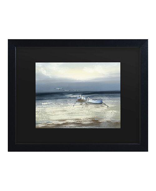 "Trademark Global Masters Fine Art Low Tide Matted Framed Art - 15"" x 20"""
