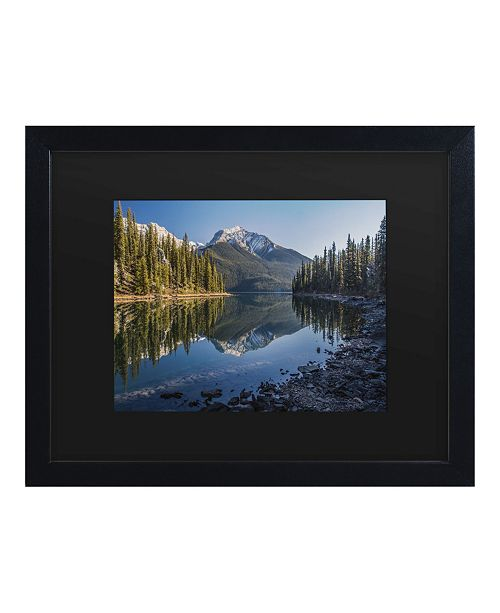 "Trademark Global Pierre Leclerc Jasper Morning Matted Framed Art - 15"" x 20"""