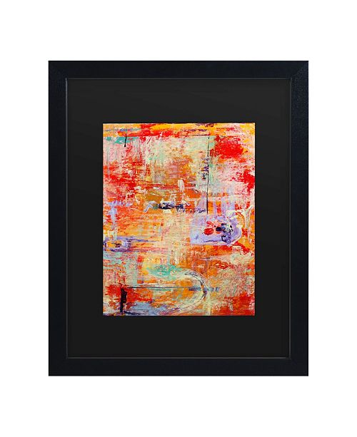 "Trademark Global Pat Saunders-White Odessy Matted Framed Art - 15"" x 20"""