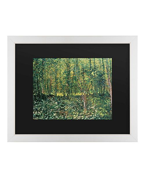 """Trademark Global Vincent Van Gogh Trees and Undergrowth, 1887 Matted Framed Art - 20"""" x 25"""""""
