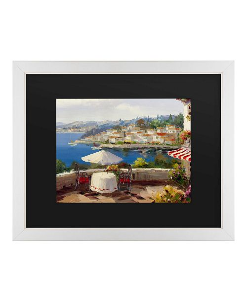 "Trademark Global Masters Fine Art Italian Afternoon Matted Framed Art - 20"" x 25"""