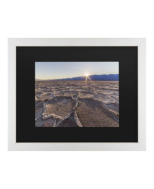 "Trademark Global Pierre Leclerc Badwater Sunset Matted Framed Art - 20"" x 25"""