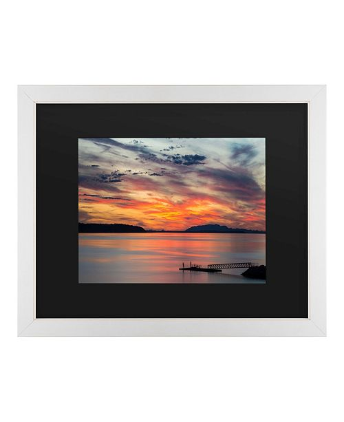 "Trademark Global Pierre Leclerc Sunset Pier Matted Framed Art - 20"" x 25"""
