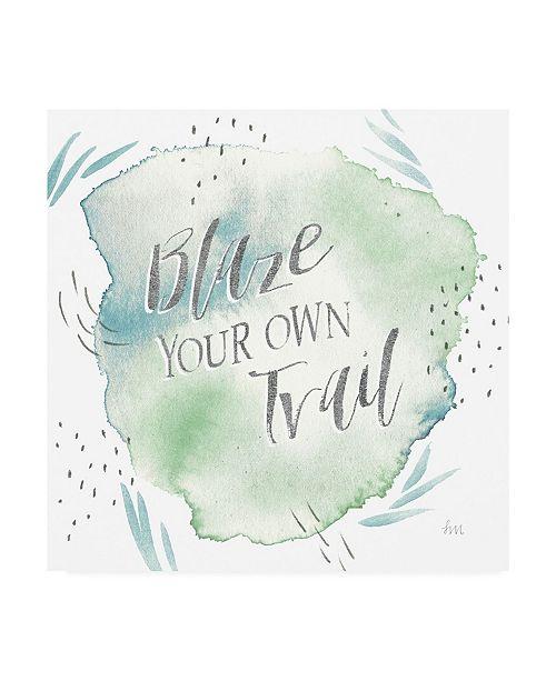 "Trademark Global Laura Marshall Wonderful World VII Blue Green Canvas Art - 15"" x 20"""