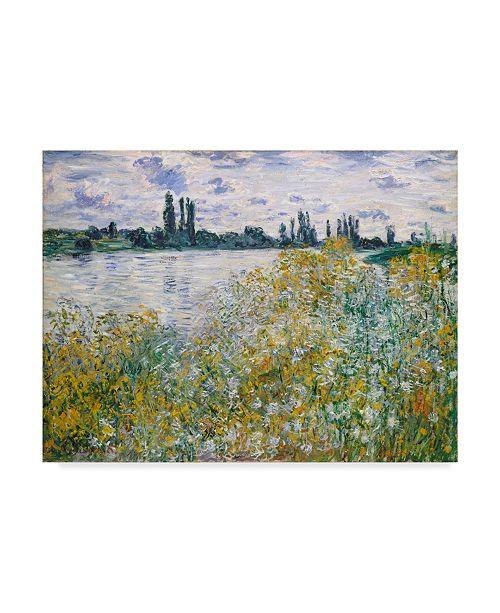 "Trademark Global Claude O. Monet Lle Aux Fleurs Near Vetheuil Canvas Art - 20"" x 25"""
