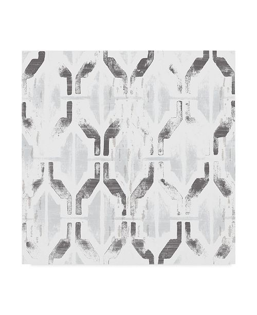 "Trademark Global June Erica Vess Monoprint Tile IX Canvas Art - 15"" x 20"""