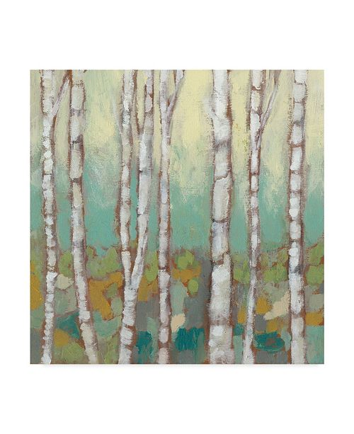 "Trademark Global Jennifer Goldberger Kaleidoscope Birches I Canvas Art - 27"" x 33"""
